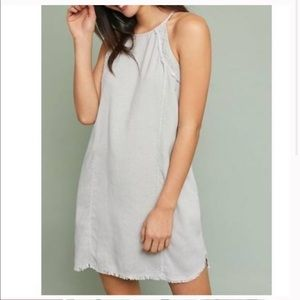 Cloth & Stone Frayed Halter Mini Dress